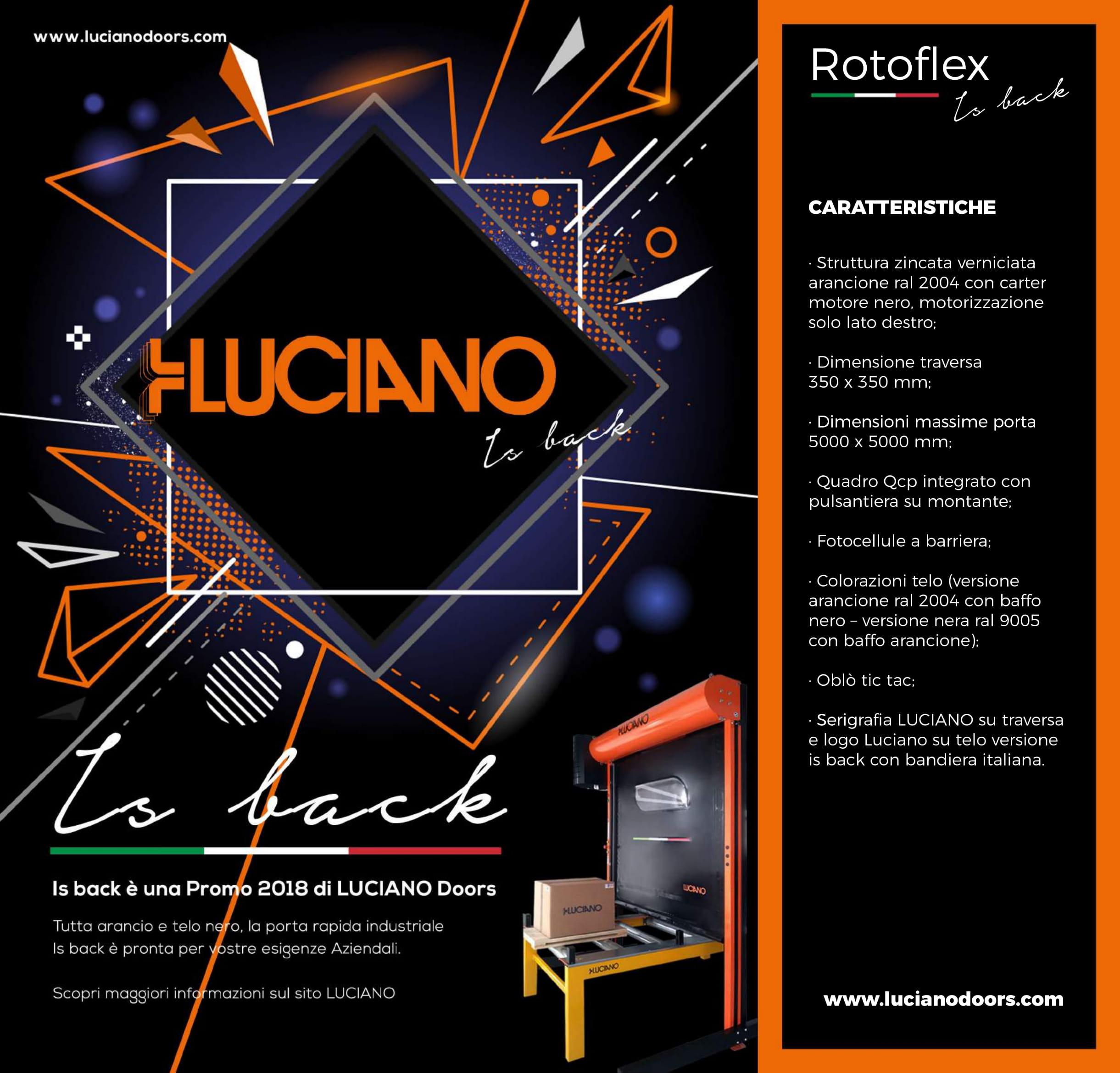 Is back_LUCIANO DOORS_PROMO 2018_ROTOFLEX