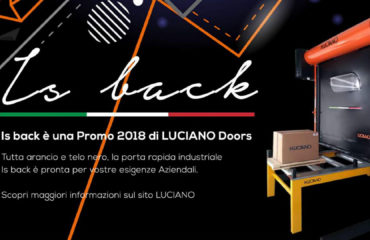 IS BACK_COPERTINA_LUCIANODOORS